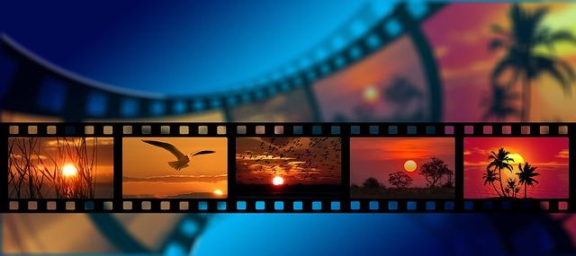 filmový pás se sluncem
