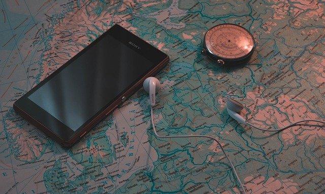 smartphone a kompas